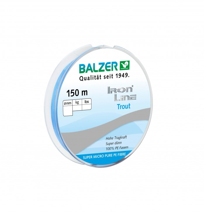 Balzer Iron Line Trout blau