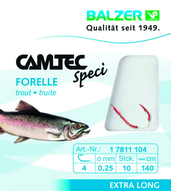 Camtec Forelle Sbiro Rot 2m