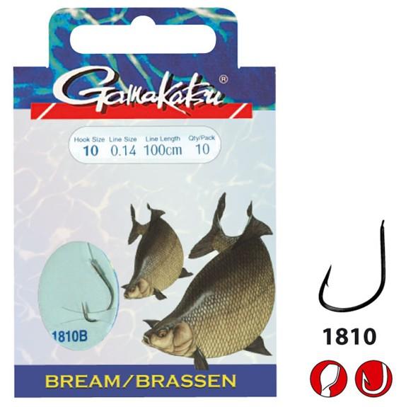 Gamakatsu Brassen Haken 014 Schnur 0.14mm Vorf.100cm