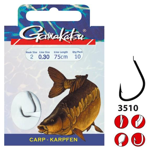 Gamakatsu Karpfen Haken Vorfachlänge 85cm