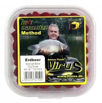 Next Generation Method Virus - Sponge Baits Erdbeer