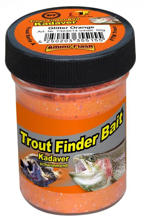 Forellenteig Kadaver Glitter Orange Schwimmend