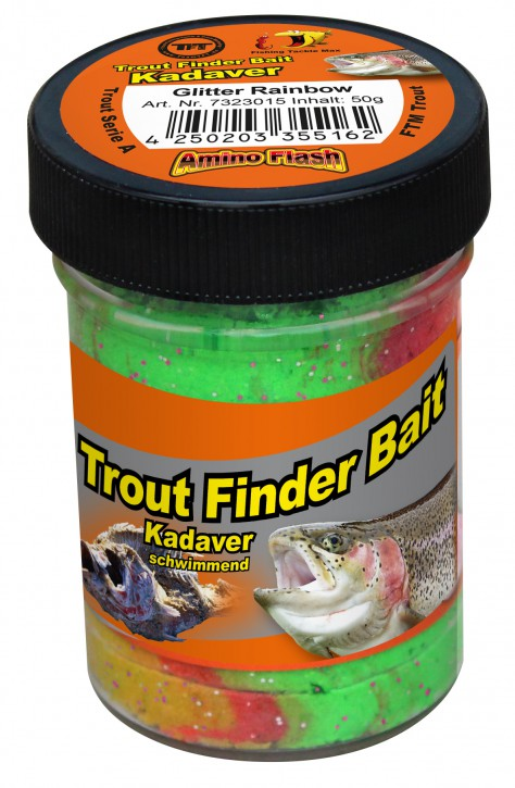 Forellenteig Kadaver Glitter Rainbow Schwimmend