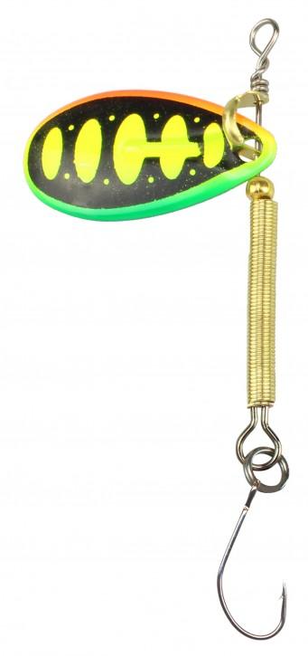 FTM Tornado Spinner 2.9g grün / gelb / rot / Ellipse / gold UV