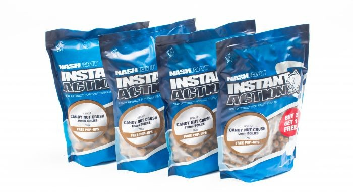 Nash Instant Action Boilies Candy Nut Crush 15mm 200g