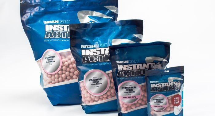 Nash Instant Action Boilies Strawberry Crush 15mm 1kg