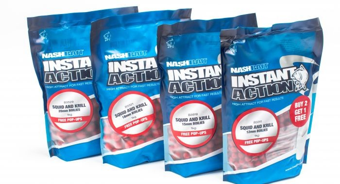 Nash Instant Action Boilies Squid and Krill 15mm 1kg