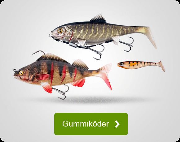 Gummiköder für das Angeln auf Raubfische